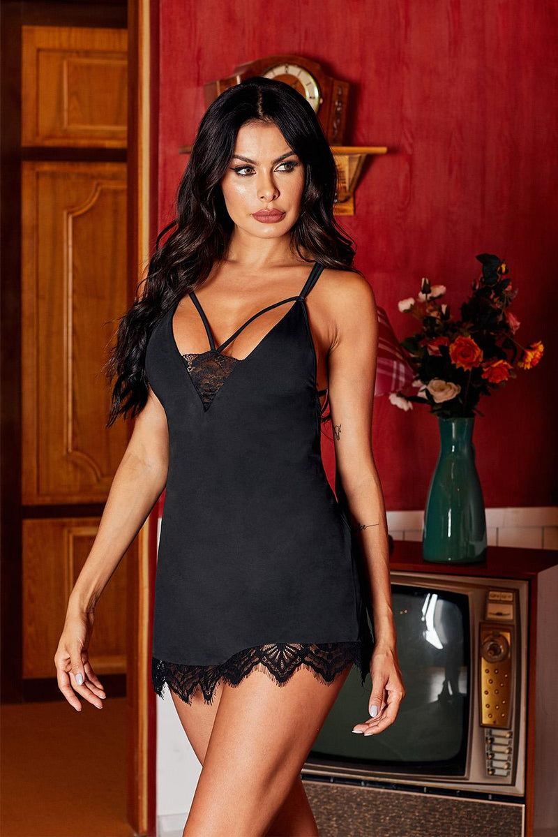 Lace with Desire Babydoll Set - GHA Discount
