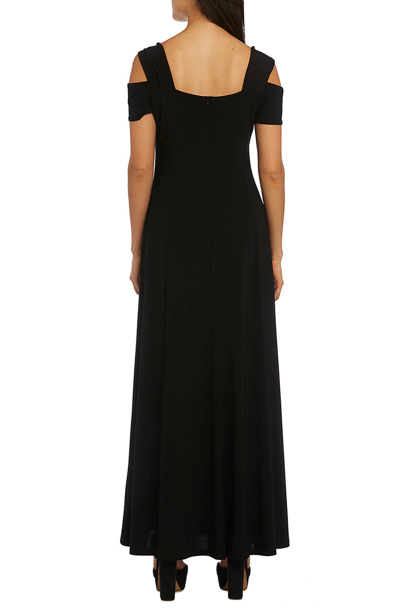 Black Long Cold Shoulder Dress - GHA Discount