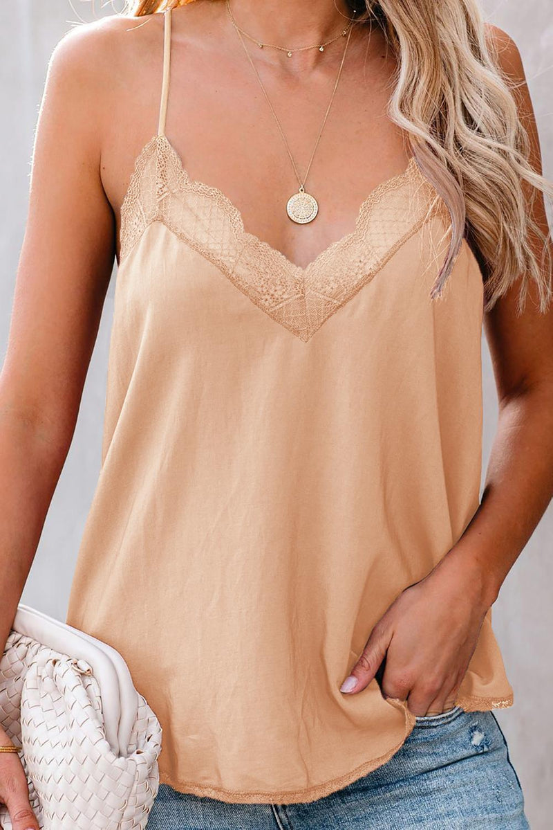 Apricot Delicate Balance Lace Cami Tank - GHA Discount