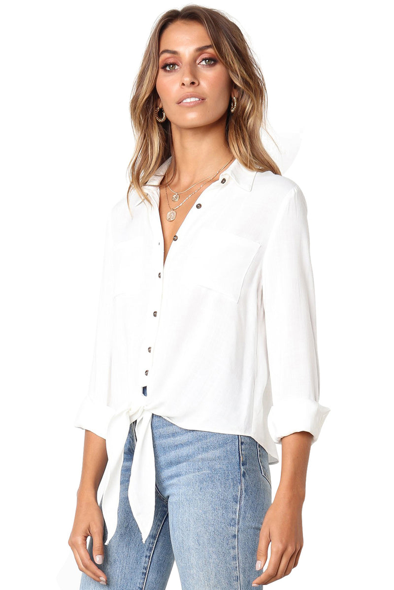 Crushed Linen Button-Down Casual Shirt - GHA Discount