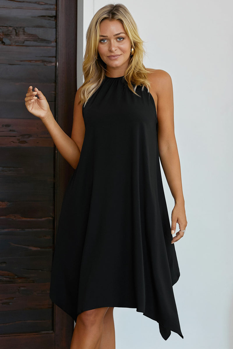 Black Ring The Alarm Luxe Midi Dress - GHA Discount