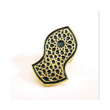 Green & Gold Sandal Pin