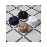 Mercerized Cotton Pleated Kufi Hat