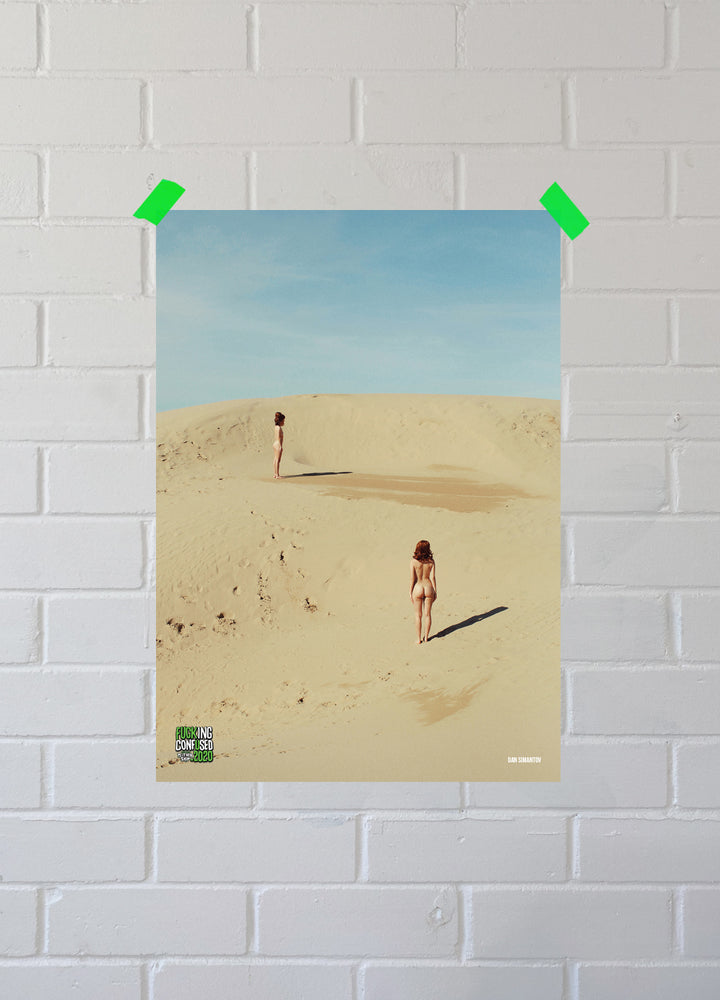 Load image into Gallery viewer, FUCKING CONFUSED 2020 Sand Dunes Poster
