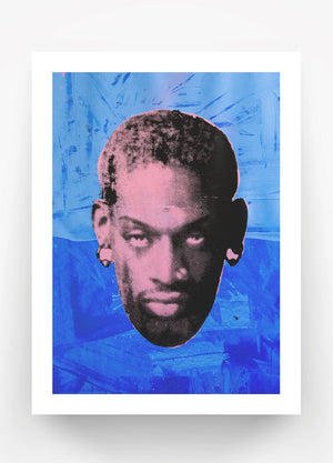 Load image into Gallery viewer, Blue Rodman Print