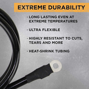 Power Bright 8 AWG 12 Foot High Extreme durability image of ultra flexible.