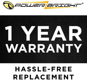 Power Bright 8 AWG 12 Foot High 1 year warranty hassle free replacement.