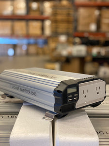 NEW 1500 Watt 12V DC to 110V AC Power Inverter - No Label - No Cables