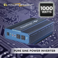 Load image into Gallery viewer, PowerBright 24 Volts Pure Sine Power Inverter 1000 Watt image of 1000 watts pure sine power inverter