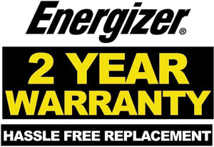 Energizer 2 Gauge 800A 2 year warranty hassle free replacement