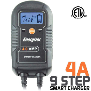 Energizer ENC4A - 4 Amp Multi-Stage 6v/12v $A 9 Step smart charger image