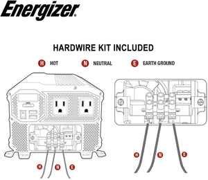 Energizer 3000 Watt 12V Power Inverter image of Hardwire Kit
