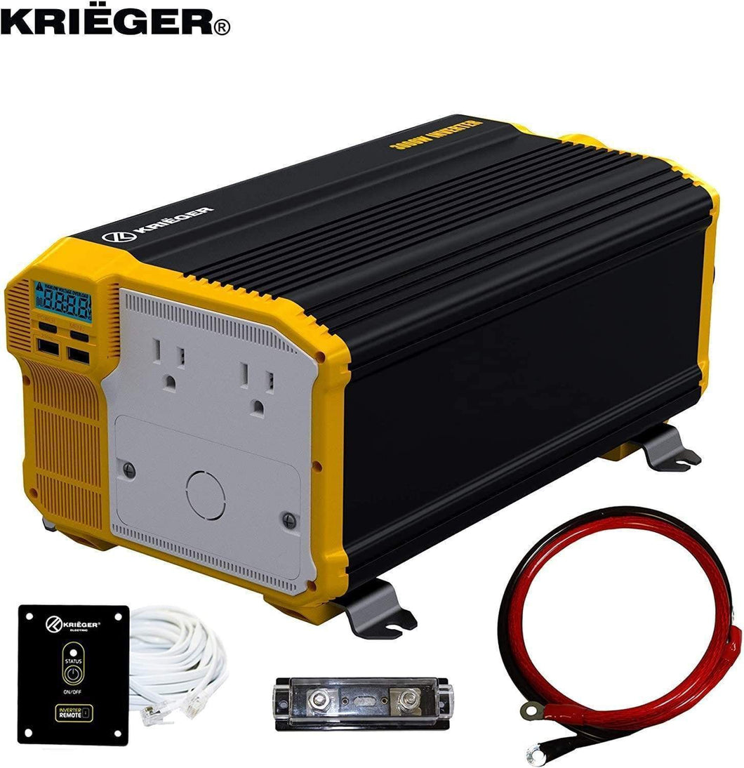 Krieger 3000 Watts Power Inverter 12V to 110V main image
