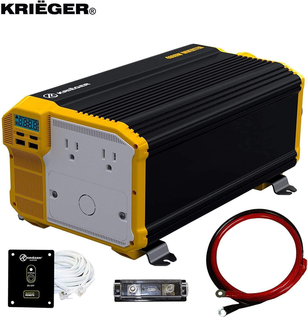 Krieger 4000 Watts Power Inverter 12V to 110V main image