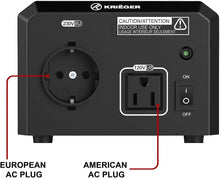 Load image into Gallery viewer, ULT850 Krieger 850 Watt Voltage Transformer, 110/120V to 220/240V image of plug