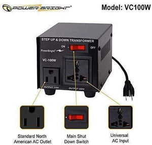 VC100W PowerBright (100W) image of features