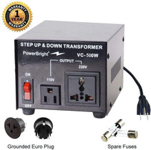Load image into Gallery viewer, VC500W PowerBright Step Up & Down Transformer main image