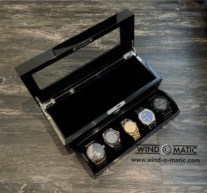 5 Black Watch Box with Strap Slot