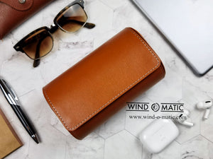Brown Travel Watch Pouch for 2