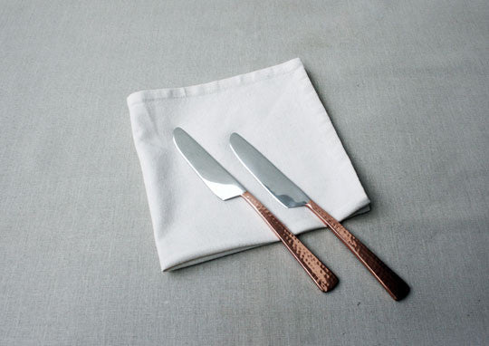 Beaten Copper-Plated 2-Piece Dinner Knife Set