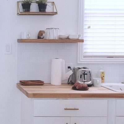 Floating Kitchen Shelf Pine