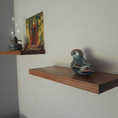 Floating Shelves Floating Nightstand with Puffins