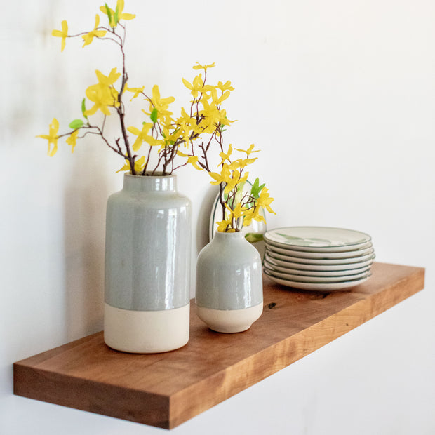 Solid cherry floating shelf - heavy duty