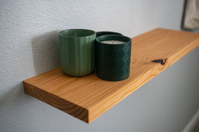Custom Solid Wood Floating Shelves
