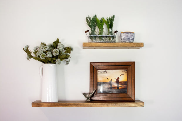 Handmade Custom Wood Floating Shelves