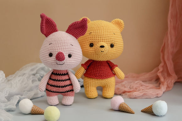 Combo Pooh and Piglet - Winnie The Pooh - Crochet PDF pattern