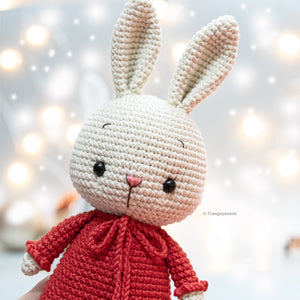 Crochet Bunny Girl ( simple dress version)- Amigurumi Pattern- Instand Download- Crochet PDF pattern