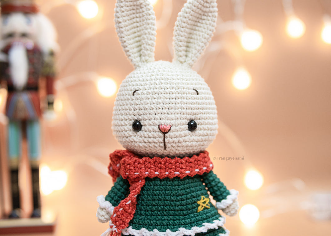 Crochet Bunny Girl ( 2 layers dress version)- Amigurumi Pattern- Instand Download- Crochet PDF pattern