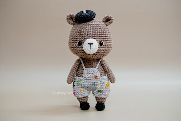 Crochet Mini Bear- Amigurumi Pattern- Instand Download- Crochet PDF pattern- Crochet by Tranguyenami