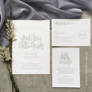 Letterpress Wedding Stationery Giveaway