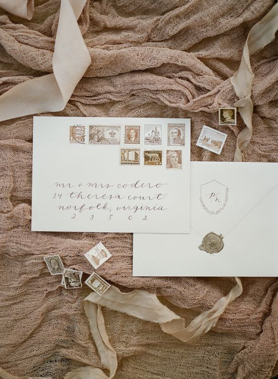 hazelnut stationery wedding