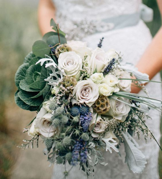 pantone kale wedding bouquet