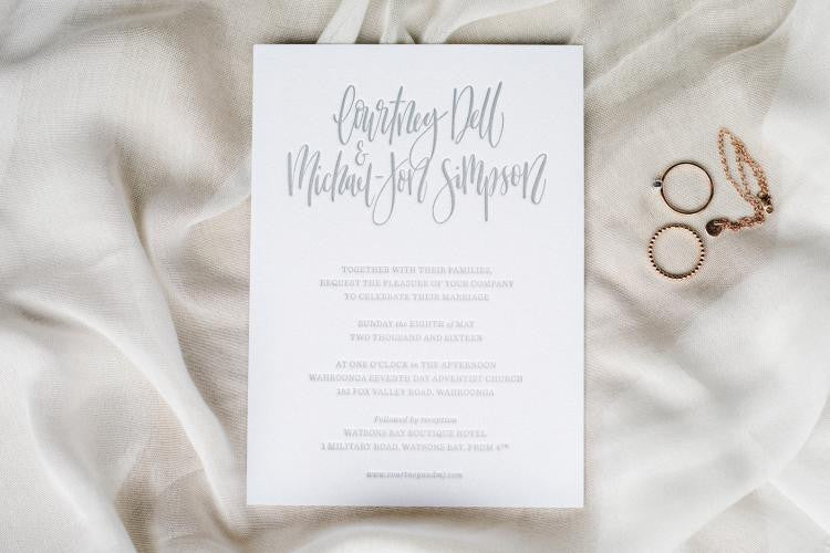 terrace press letterpress wedding invitation