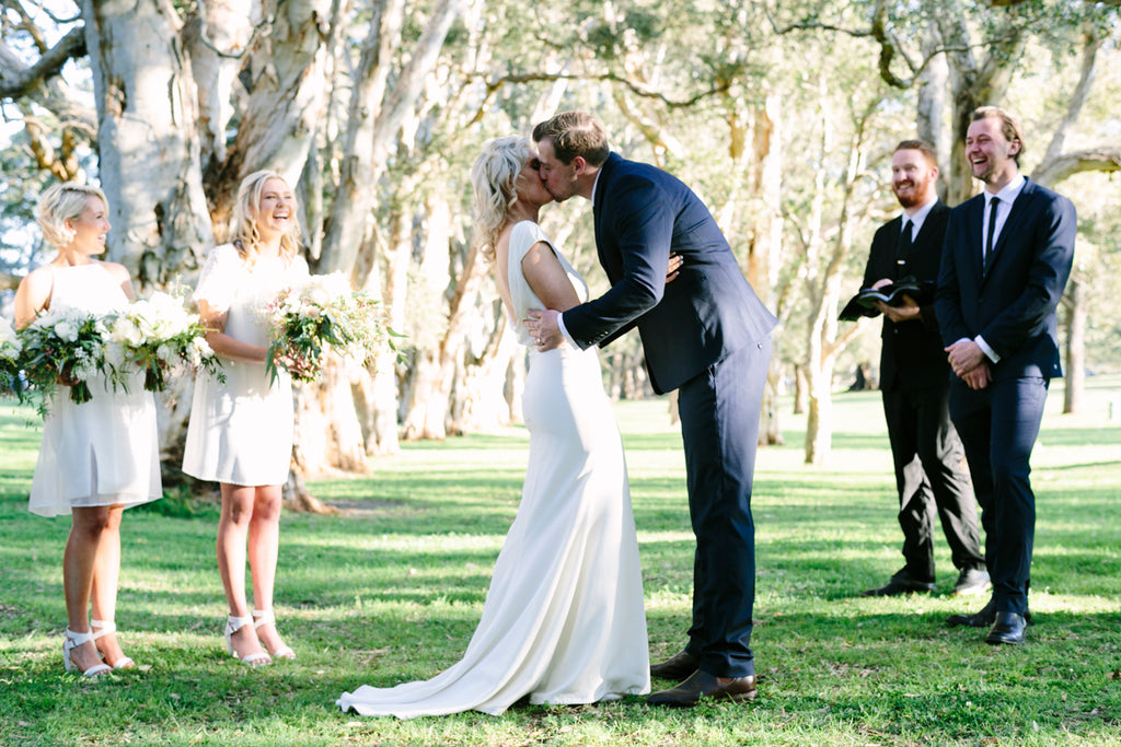 chloe and nathan centennial park wedding