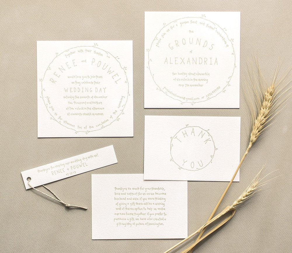 renee and pouwel letterpress wedding terrace press