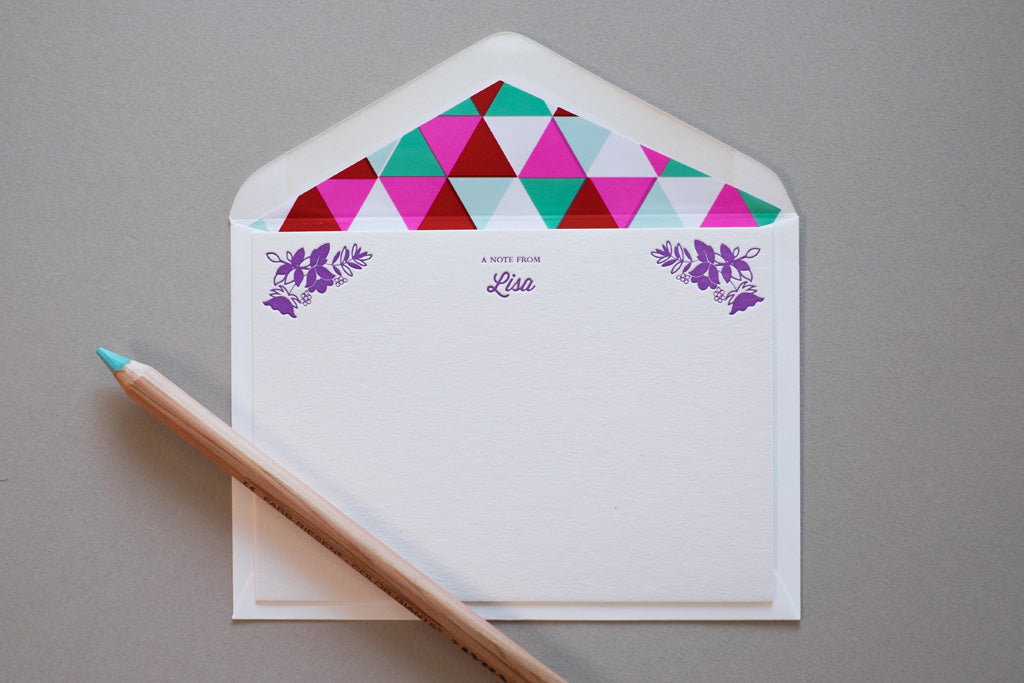 envelope liner stationery