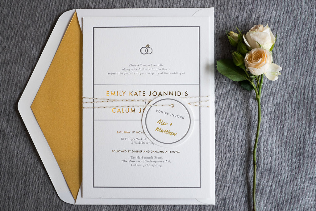 wedding invitation foil stamping