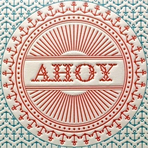 ahoy letterpress beach