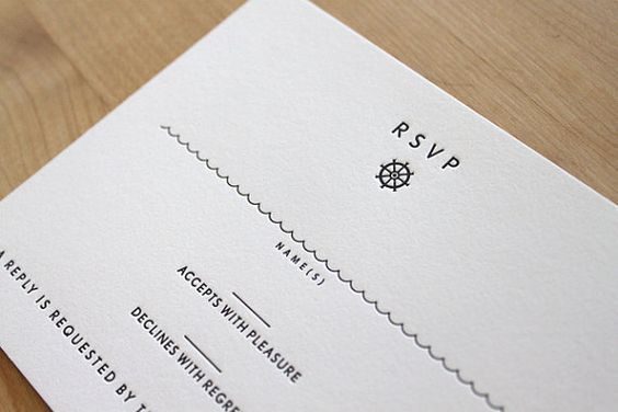 beach letterpress wedding rsvp