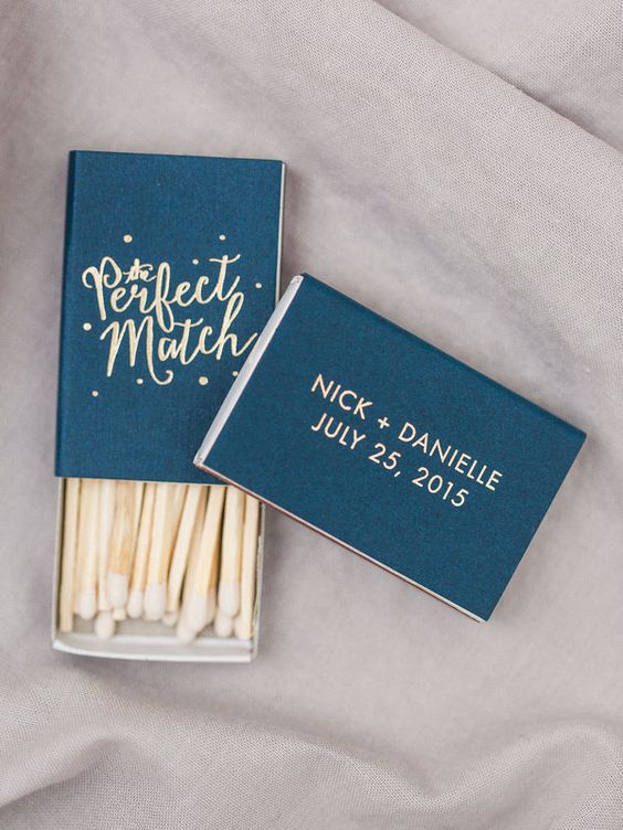 perfect match wedding favour