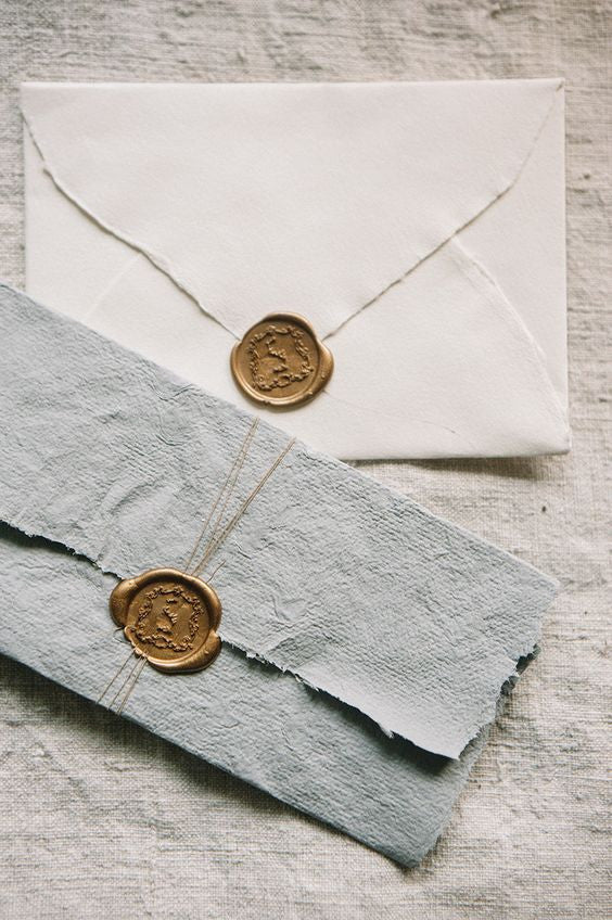 wax seal wedding stationery