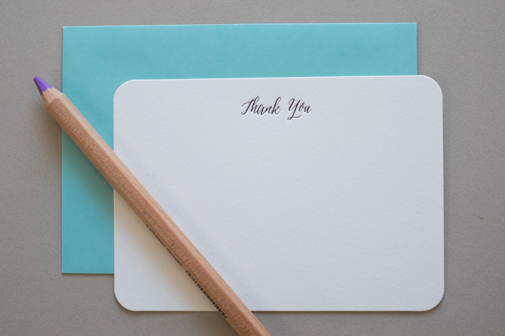 thank you note letterpress sydney