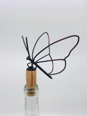 Hand Crafted Butterfly Bottle Stopper