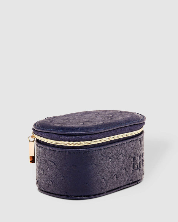 Olive Jewellery Box / Ostrich Navy