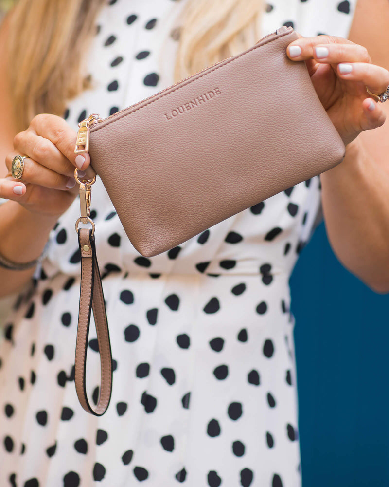 Perry Clutch Light Mocha