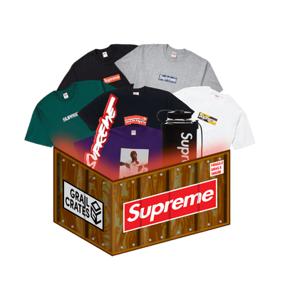 The Supreme Mystery Box contains clothing from the hypebeast clothing brand Supreme.